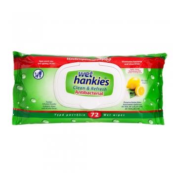Wet Hankies 'Lămâie' (72 buc.)