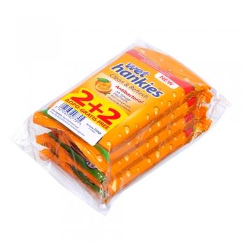 Wet Hankies 'Orange' (4x15...